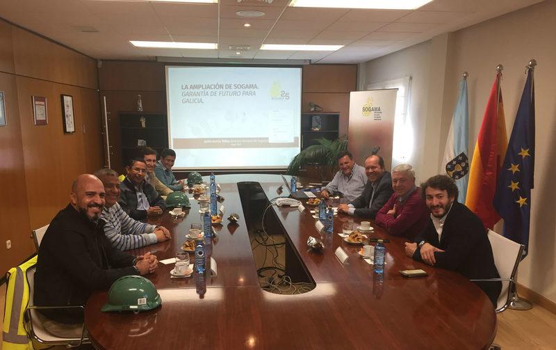 Representantes del Departamento colombiano de Antioquía se interesan por el transporte combinado de residuos en el modelo Sogama